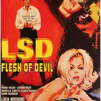 LSD Flesh of Devil (Foreign) 11x17 Movie Poster (1967)