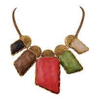 Fashion Colorful Irregular Big Necklace for Women Fantasy Resin Jewelry