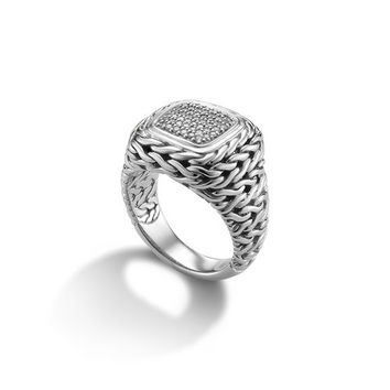 John Hardy classic chain collection small square ring