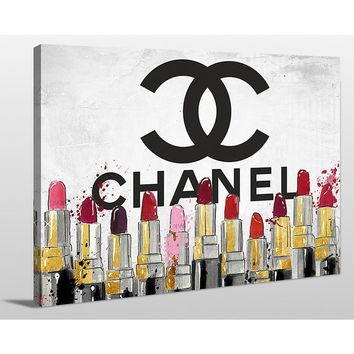 BY Jodi 'Chanel lipsticks' Giclee Print Canvas Wall Art | Overstock.com Shopping - The Best Deals on Gallery Wrapped Canvas