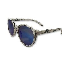 Blue Marbled Sunglasses
