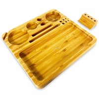 Afghan Hemp Bamboo Rolling Tray (Large)