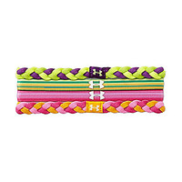 Under Armour Elastic Headband Four-Pack - Velocity/Tropic Pink