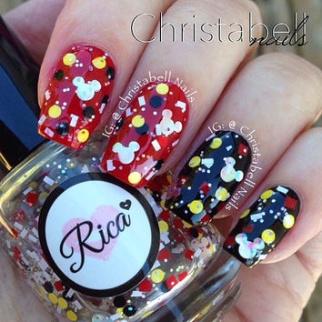 Real Girls Wear Mickey Ears (custom hand crafted nail polish)