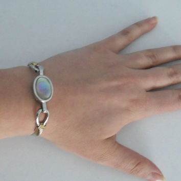 Vintage Avon Abalone Bracelet by houseofheirlooms on Etsy