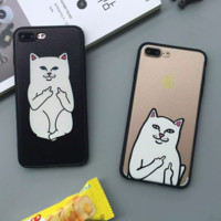 Fashion Cheap cat Phone Case Cover for Apple iPhone 7 7 Plus 5S 5 SE 6 6S 6 Plus 6S Plus + Nice gift box! LJ161007-005