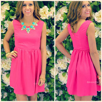 Sweet Serendipity Hot Pink Sleeveless Dress