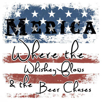 Where the Whiskey Flows & Beer Chases T-Shirt