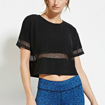 Netted Mesh-Paneled Tee