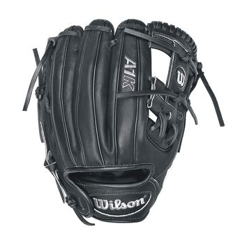 "Wilson A1K DP15 Infield Baseball Glove -11.5"" Black/Metallic RHT"