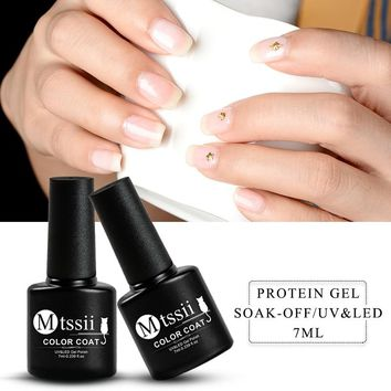 Mtssii 7ml Opal Jelly Gel Nail Polish Lacquer Soak Off Gel Polish UV Led Nail Art Latex White Nail Painting Gel Nail Varnish Gel