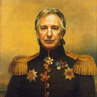 Alan Rickman - replaceface Art Print by Replaceface