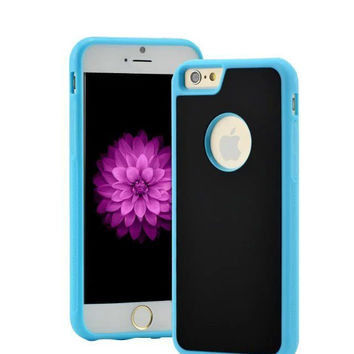 Blue Anti-Gravity Selfie Phone Case for Iphone 5/5s/6/6s and Samsung Galaxy S6 Edge with Nano Sticky