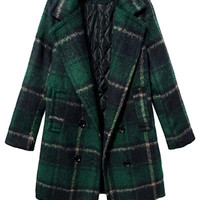Tartan Long Sleeve Coat