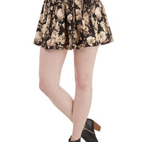 ModCloth 90s Short Length High Waist Prettiest in the Bloom Skirt