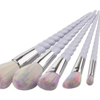 Unicorn Thread Makeup Brushes Set (Pay for  5 & get 10pcs)