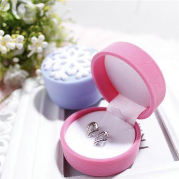 Ring Necklace Earring Box Velvet Gift Display Jewellery Case snowflake personality Jewelry box Necklace box #30