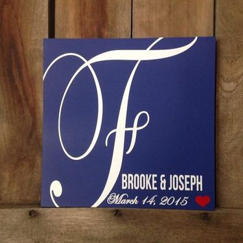 Family Established Monogram Sign :: Perfect Wedding Gift