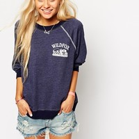 Wildfox Sweatshirt With Front Logo at asos.com