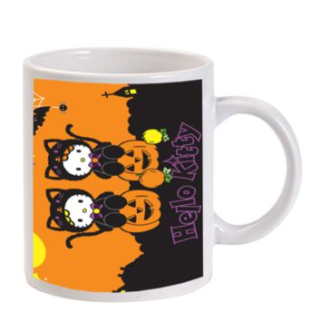 Gift Mugs | Cartoon Halloween Hello Kitty Ceramic Coffee Mugs