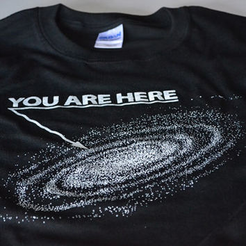 Geek T shirt space geekery mens tshirt teen youth science galaxy tee black shirt astronomy stars milky way science gift