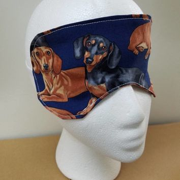 daschund - wiener - dog - doxie - pug - pugs - print -  - Sleep - Mask - Eye - Mask - beauty - mask - bridal - mask - bridesmaid - gift