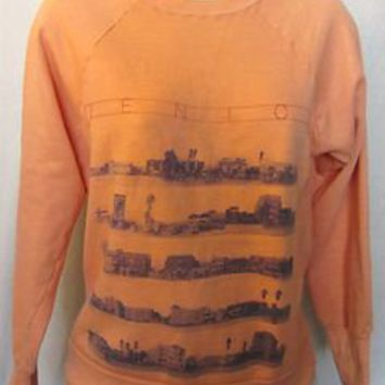 VTG 70s 80s VENICE BEACH Surf Skate Cal GRAPHIC Small 50/50 Crewneck SWEATSHIRT