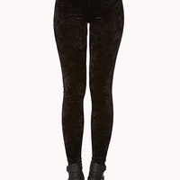 Poetic Velveteen High-Waisted Leggings