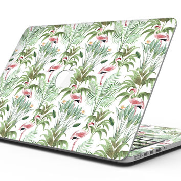 The Tropical Flamingo Jungle Scene - MacBook Pro with Retina Display Full-Coverage Skin Kit