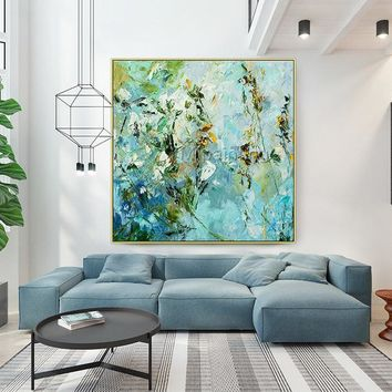 Abstract Flower knife Painting on Canvas original extra Large Wall Pictures Original painting  heavy texture hand painted cuadros abstractos