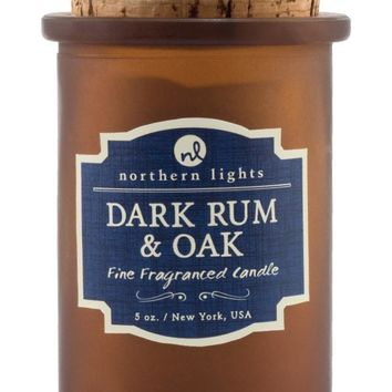 Dark Rum and Oak Spirit Candle