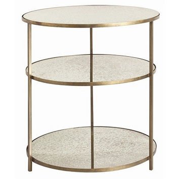 Arteriors Home Percy Antique Brass/Mirror Side Table - Arteriors Home 6553