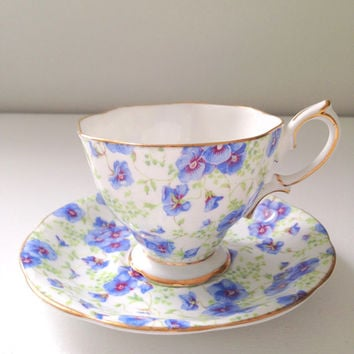 Vintage English Royal Albert Crown China Tea Cup and Saucer Mother's Day, Wedding or Bridal Shower Gift Inspiration