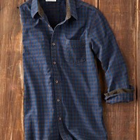Effortlessly Cool Men's Shirts - All-Terrain Dobby Shirt - Carbon2Cobalt