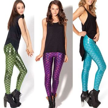 Mermaid Scales Fish Scale Leggings