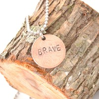 """Brave"" Penny Necklace"