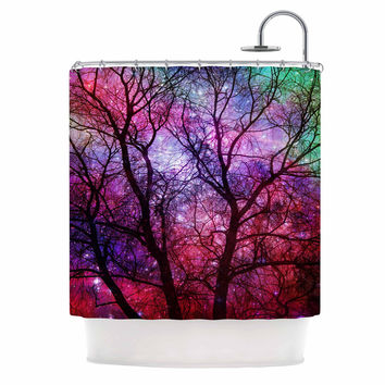"Suzanne Carter ""Starry Night"" Purple Pink Shower Curtain"