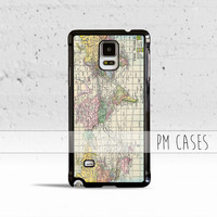 World Atlas Map Case Cover for Samsung Galaxy S3 S4 S5 S6 Edge Plus Active Mini Note 1 2 3 4 5