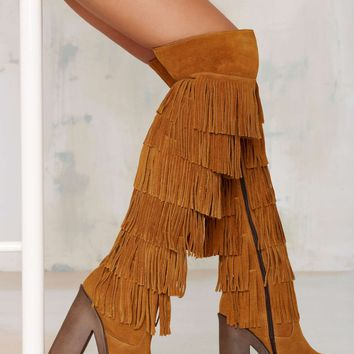 Stiù Tanis Thigh High Suede Boot