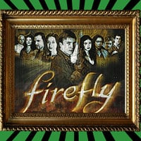 Joss Whedon's Firefly Cast Poster Sci Fi Awesome Upcycled Vintage Dictionary Page Book Art Print