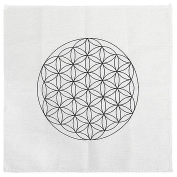 Sacred Geometry Crystal Grid Altar Cloth
