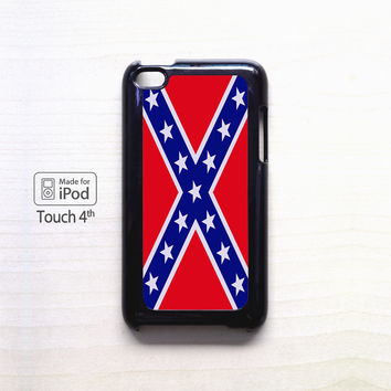 Rubber Confederate Rebel Flag for apple case iPod 4/iPod 5