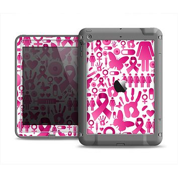 The Pink Collage Breast Cancer Awareness Apple iPad Air LifeProof Fre Case Skin Set