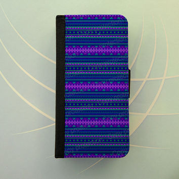 s4 flip case, iphone 4 5, Samsung Galaxy S3 or S4 wallet case book style, flip cover, flip case - Tribal aztec pattern