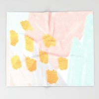 Soft Angles 2 - coral and mint abstract Throw Blanket by Allyson Johnson | Society6