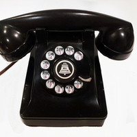 WORKING- Black Lucy Rotary Phone  1948