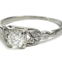 Embrace of Diamonds - Vintage Engagement Ring - The Three Graces