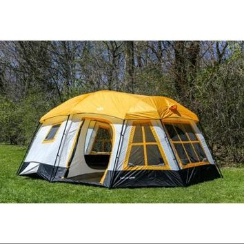 Tahoe Gear Ozark 3 Season 16 Person Large Family Cabin Tent   Walmart.com  Sc 1 St Wanelo