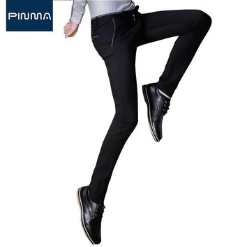 2017 new casual imported working pants men workwear slim fit long mens dress pant business office male suit trousers for man 484