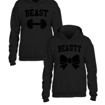 Beast And Beauty  - Couple hoodie